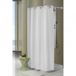 comprar cortina lisa blanca baño