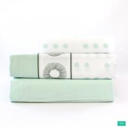 juego sábana dover verde